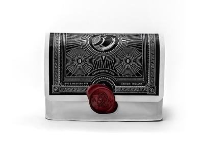 Coffee Packaging - Back vintage beans abbey coffee package mayan seal wax guatemala gesha