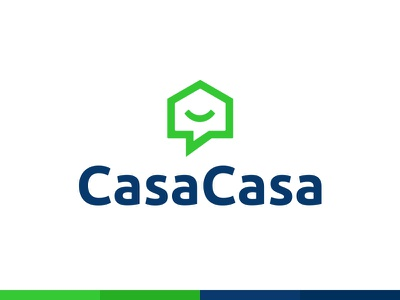 CasaCasa Logo fun real estate tech startup identity brand mortgage buyer buying home house casa
