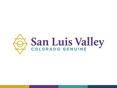 Colorado Place Brand purple minimal line mountain water sun valley logo identity branding community place