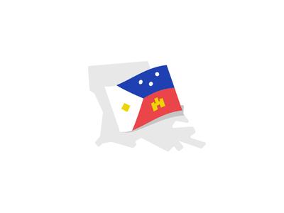 Acadiana, Lousiana acadiana castle flag logo identity branding place brand state louisiana