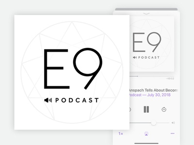 Enneagram Podcast circle typography serif sans identity brand itunes 9 e profile logo podcast