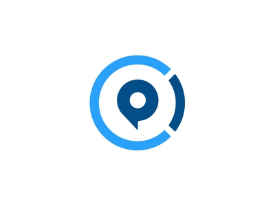 Center Pointe Mark clean badge center point brand identity circle pin blue church mark logo