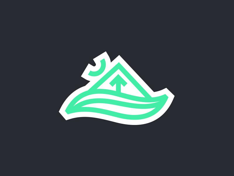 Place Brand Concept skateboard place brand tree river south carolina mountain icon mark logo identity brand branding