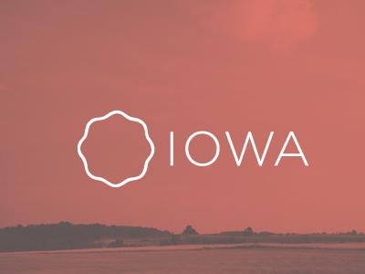 Branding 50 States: Iowa iowa state field red mark logo visual identity design graphic typography type thin white vintage brand branding united states