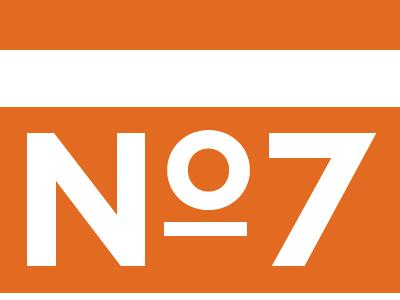 No 7 Studios logotype treatment mark logo typography