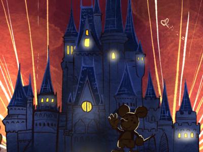 Wedding Illustration - Disney 001 (Detail)