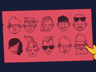 Governors Ball - 2014 Branding illustration faces heads branding governors ball poster