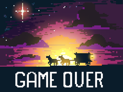 Game Over - Western Pixel