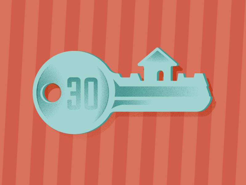New Home illustrator vector illustration key house new
