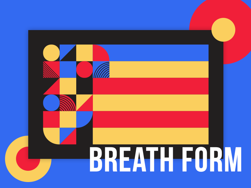 Breath Form form breath scallop primary retro block graphic