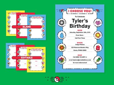 Pokemon Invite - Template