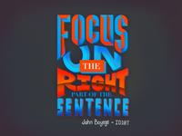 Lettering - Focus