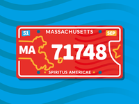 Massachusetts - License Plate