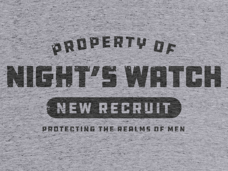 Protecting The Realms Of Men branding tshirt teeshirt type vector typography nights watch game of thrones