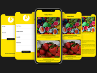 Food Story App UI Kit PSD