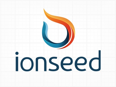 IONSEED - efficient energy dynamics branding logo energy technology ion seed fire warm design color concept