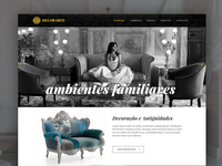 Homepage for a decoration house company