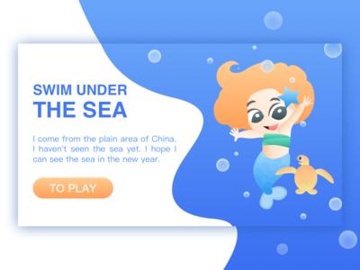 Swim under the sea
