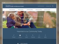 Health Website Homepage