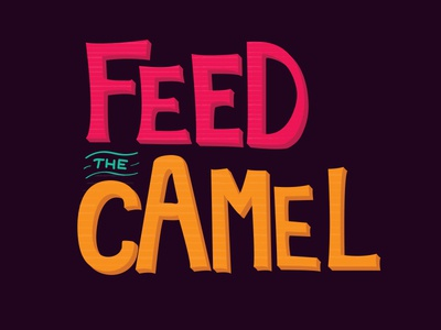 Feed the Camel Logo - Version One camel food truck food truck event event logo logo
