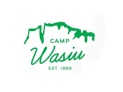 Camp Wasiu V2 summer camp camp nature outdoor logo camp identity