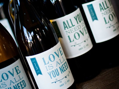 Wedding Wine Bottle Photo wine label wedding the beatles wedding wine wine bottle love is all you need all you need is love