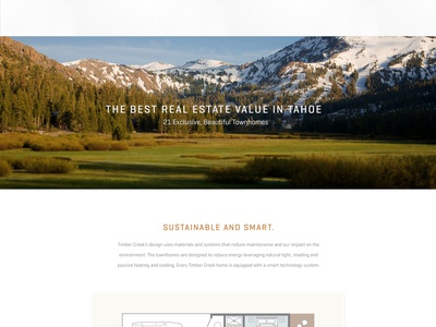 Timber Creek Landing Page landing page one page real estate luxury real estate mountain retreat townhomes website