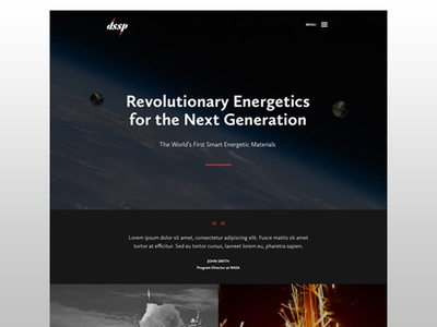 Propulsion + Pyrotechnic Website website html5 video video hover pyrotechnics engineering dark video header