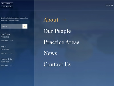 Law Website responsive homepage photography landscape attorney law website