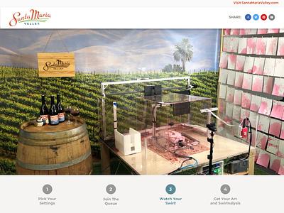 Santa Maria Swirl Machine [Controllable by You] webapp design swirl splash cats wine swirl webapp ui ux ux ui wine