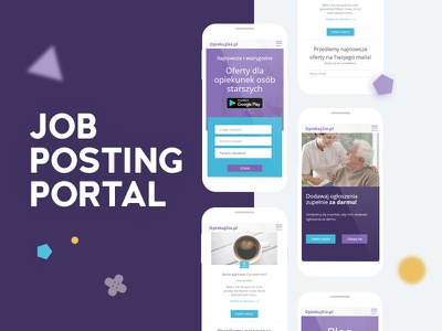 Job posting portal mobile design web design portal job ux ui