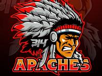 Apaches Mascot Logo