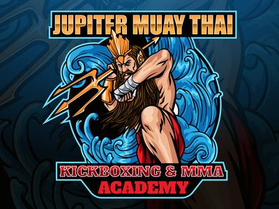 Jupiter Muay Thai Mascot Logo