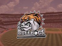 Bulldog mascot logo