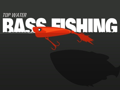 Top Water Bass Fishing bass fishing illustration top water