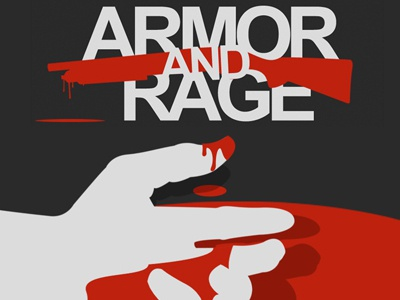 Armor and Rage - Poster Design music poster illustration shotgun blood simple