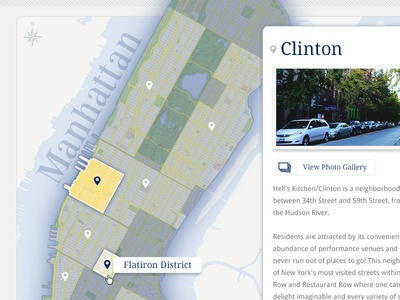 Neighborhood Map nyc manhattan map ux
