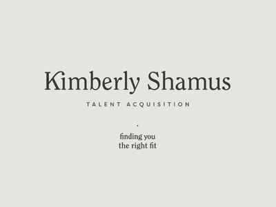Kimberly Shamus Identity Design