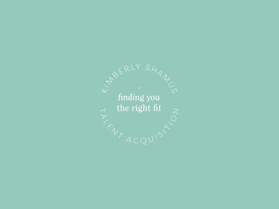 Kimberly Shamus Identity Design — Secondary