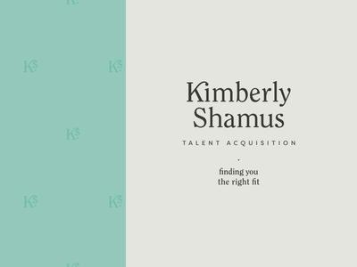 Kimberly Shamus Identity Design — Stacked