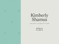 Kimberly Shamus Identity Design — Stacked