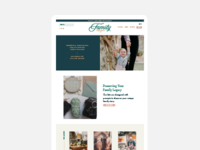 Family Trade Secret Homepage Design