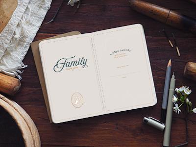 Family Trade Secret Workbook identity logo branding mark illustration typography identity design print