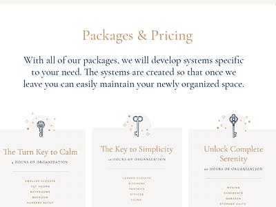 Pricing Menus website design squarespace designer typography graphic design squarespace website web