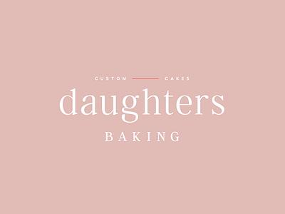 Daughters Baking brand design identity design feminine design logo identity branding graphic design typography