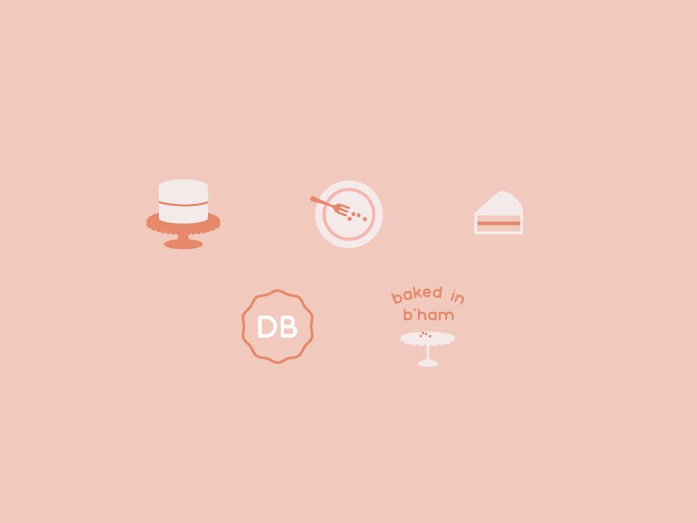 Bakery Icons bakery cake icons logo design illustration identity design design graphic design branding