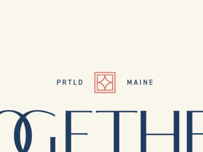 Together Brand Mark type submark identity branding design logo design feminine brand design identity design mark design logo graphic design typography branding