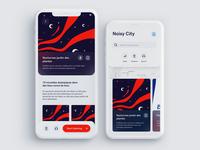 Noisy city experience app