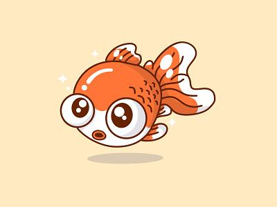Goldn Fish goldfish ocean illustration vector japan kawaii fish logo adorable cute fish