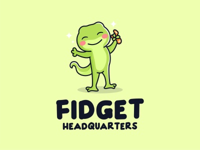 Lizard Fidget cute art cute illustration cute animals illustration illustrator lizardfei cartoon brand lizards mascot logo kawaii cute fidget lizard